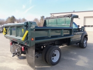DuraClassYardbird, 9' 3-4 yard dump body with vertical side and tailgate braces, full height board pockets and 1/2 cabshield.