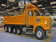 20' HPT at 2012 NTEA Work Truck Show shown with full cab shield, spill apron and LED lights.