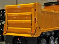 Heavy duty dump bodies feature a patented body sidewall, full depth rear corner posts, oversize front corner posts and protected tailgate hardware.