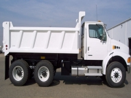 HPT Dump Body shown with 1/4 cab shield.